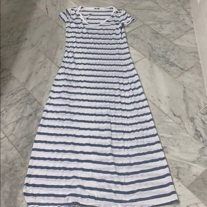 SPLENDID White and Blue Striped Maxi Dress Small